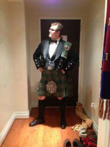 Liam before the GW inaugural ball