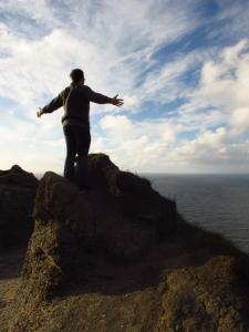 Liam on the Cliffs of Moher