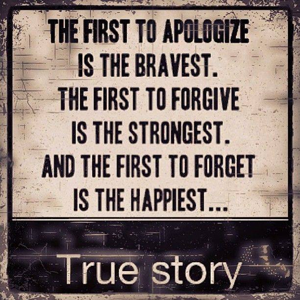 The Courage To Apologize, Forgive And Forget